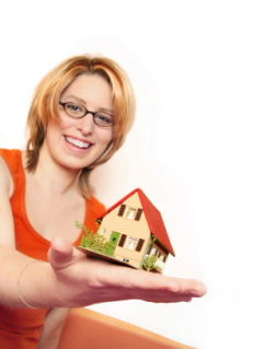 Blonde Women Offering Construction Loan House