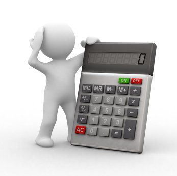 3D Man with Calculator